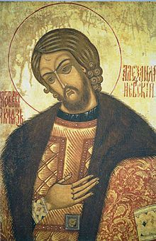 Александр Ярославич Невский — Икона Святого благоверного князя Александра Невского