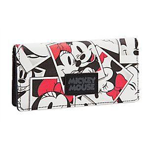 Mickey and Minnie Wallet | Disney Store Mickey Mouse and Minnie Mouse share a collage of lovable photos on this adorable tri-fold wallet from our D/Style collection.