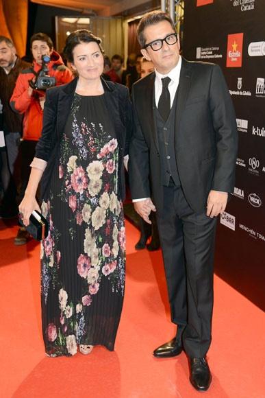 Andreu Buenafuente con su mujer, Silvia Abril, en su reaparición tras ser papás en los Premios Gaudí #famosos #televisión