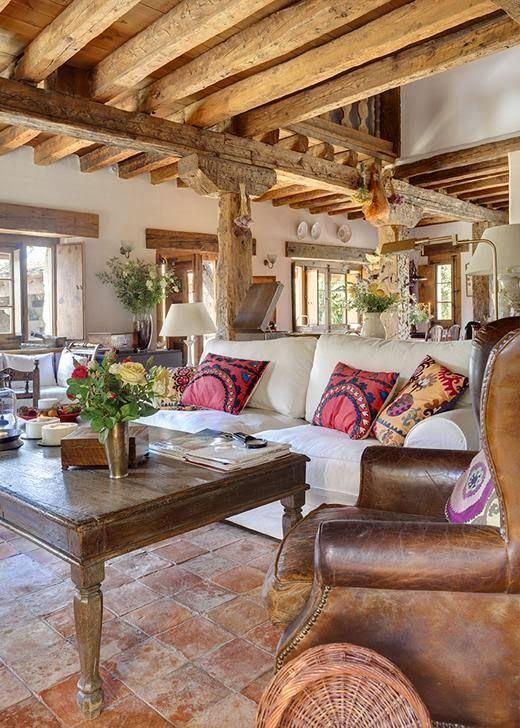 au-chalet:  (via Vicky's Home: Una vieja casa de campo restaurada / An old restored farmhouse)