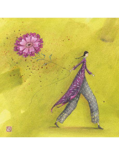 """Gaëlle Boissonnard carte d'art """"La fleur aérienne"""""""