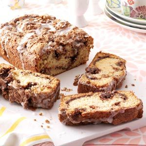 Cinnamon Swirl Quick Bread Recipe - Ingredients 2 cups all-purpose flour 1-1/2 cups sugar, divided 1 teaspoon baking soda 1/2 teaspoon salt 1 cup buttermilk 1 egg 1/4 cup canola oil 3 teaspoons ground cinnamon GLAZE: 1/4 cup confectioners' sugar 1-1/2 to 2 teaspoons milk