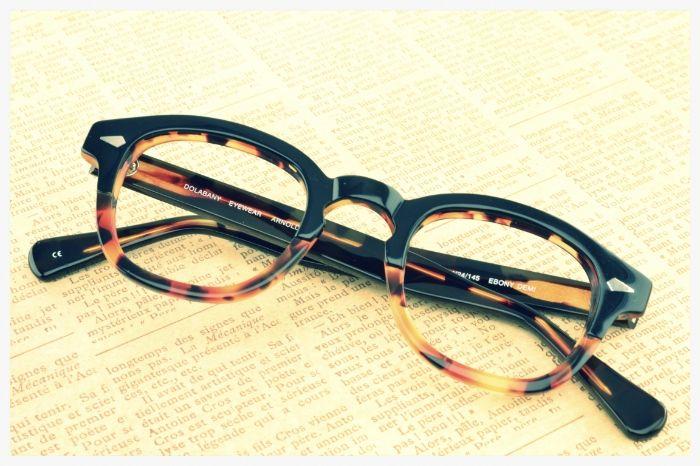 Arnold Glasses In Black Crystal By Dolabany Eyewear