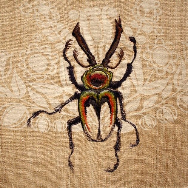 Best images about insectes brodés embroidered insects