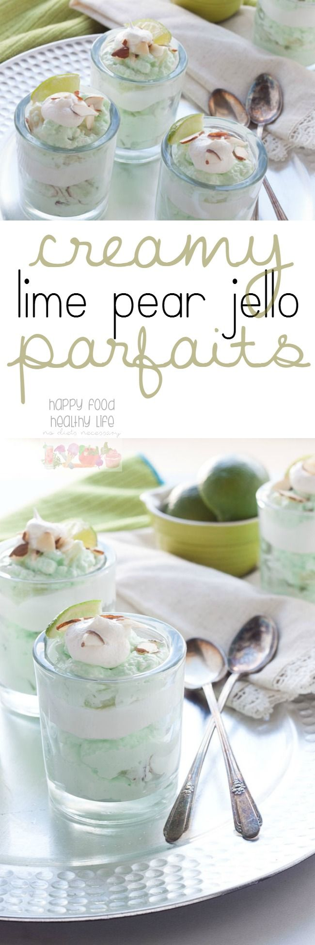 Creamy Lime Jello Parfaits - These creamy lime jello parfaits are the result of a family favorite dessert that has been turned into a modern dessert that's delicious and fresh after any meal. #TODAYFood #ad