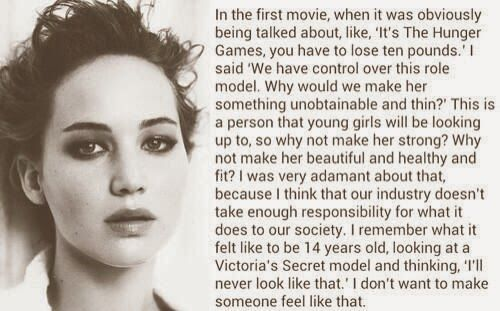 Jennifer lawrence Quote- just one reason I LOVE her!