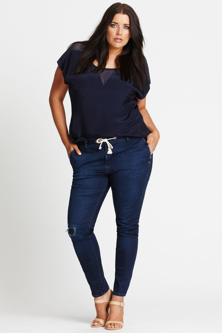 Walk the Line Mended Anti-Fit Jeans - We have been working overtime designing these for you. These jeans move the joggers into a more chic space. Designed exclusively by us for you.