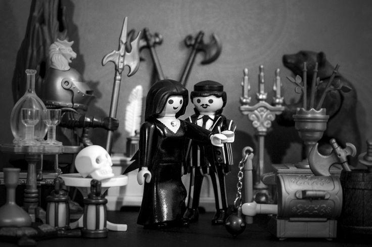 Playmobil Adams family. Gomez & Morticia Los locos Adams, Homero y Morticia. My Costume playmobil.