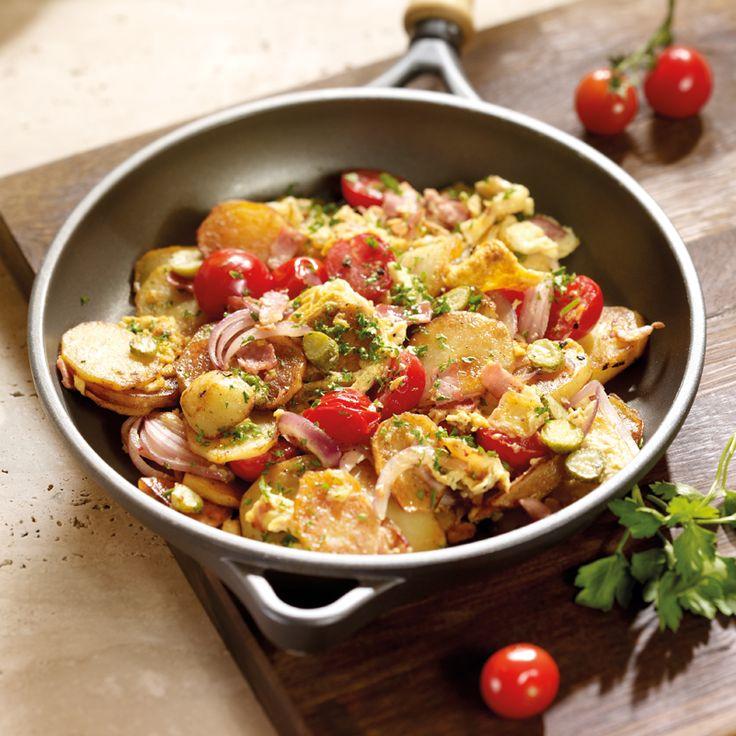 Bratkartoffeln mit Schinken und Ei Rezepte | Weight Watchers