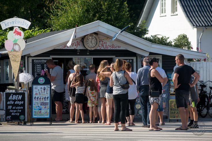 Færgekiosken på Rørvig Havn i Odsherred