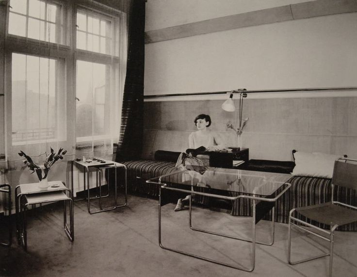 International Style, Vintage Interiors, Bauhaus, Walter Gropius, Living  Room, Interior Design, Furniture, Weimar, People