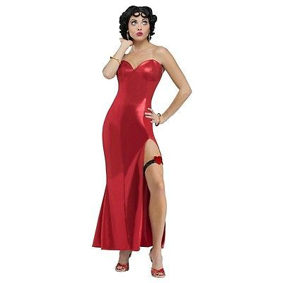 Betty Boop Costume Hollywood Diva Adult Halloween Fancy Dress