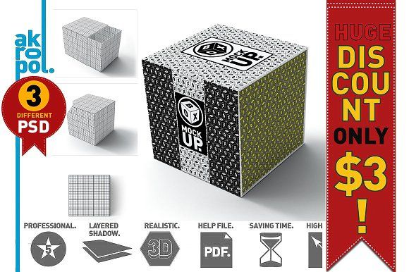 Box Mock-up by akropol on @creativemarket