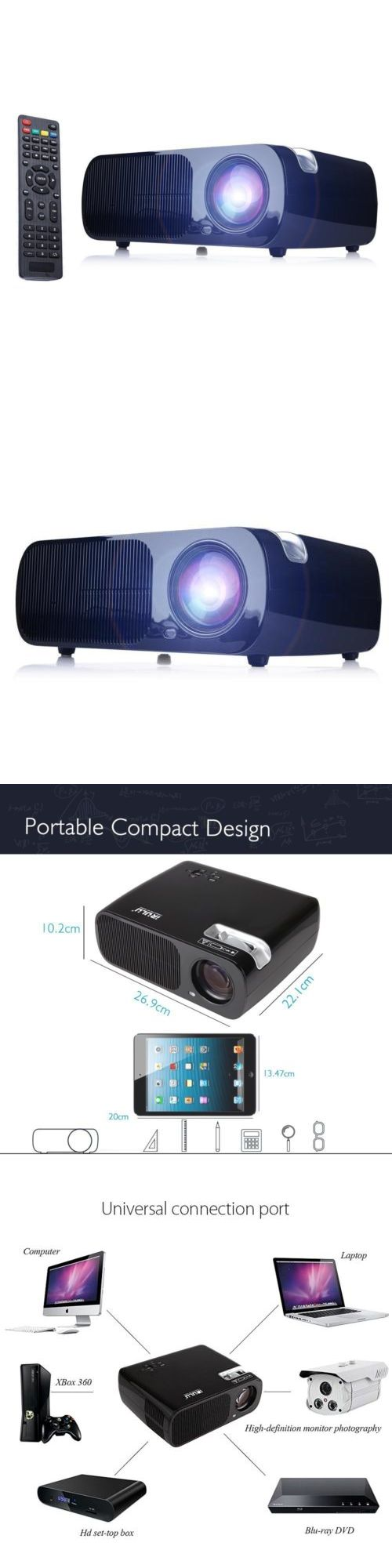 Home Theater Projectors: Irulu Bl-20 Lcd Projector Hdmi Usb Vga Tv 1080P 2000: 1 Home Cinema Theater -> BUY IT NOW ONLY: $99.99 on eBay!