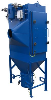 CARTRIDGE DUST COLLECTOR 5500 - The Cartridge Dust Collector 5500 model contains two cartridges and covers more filtration needs, where the capacity in the model 4500 is not sufficient. The dust collector is as standard, supplied with dust bin and is equipped with Teldust's unique air cleaning system.