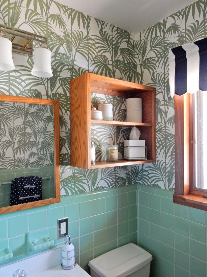 Wallpaper Wonderland Making A Dated Bathroom New Again Bathroom