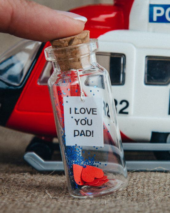 Fathers Day Gift Dad From Son Father Birthday Daughter Message In A Bottle Papa Daddys Cute To Love Daddy Fathersday