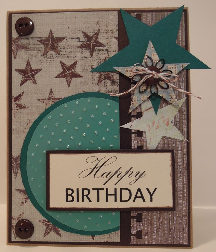Handmade Birthday Cards For Guys 18 ~ Handmade card designs by judy talley for man s th birthday love these paper combinations
