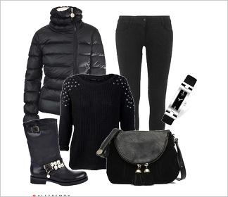 Zestaw ubrań Total look in black