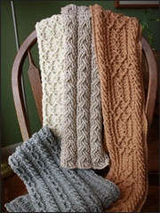 -stitch scarves. I like crochet that looks like knitting. 4 Patterns ...