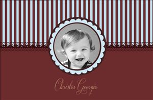 'My chocolate dream' birth announcement from InkiMinki. An elegant vintage inspired design printed on an exquisite linen card stock.