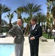 President John F. Kennedy with Former President Dwight D. Eisenhower in Palm Springs, California. 03/24/1962