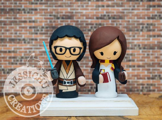 Hey, I found this really awesome Etsy listing at https://www.etsy.com/listing/478735997/jedi-groom-and-hermione-bride-harry