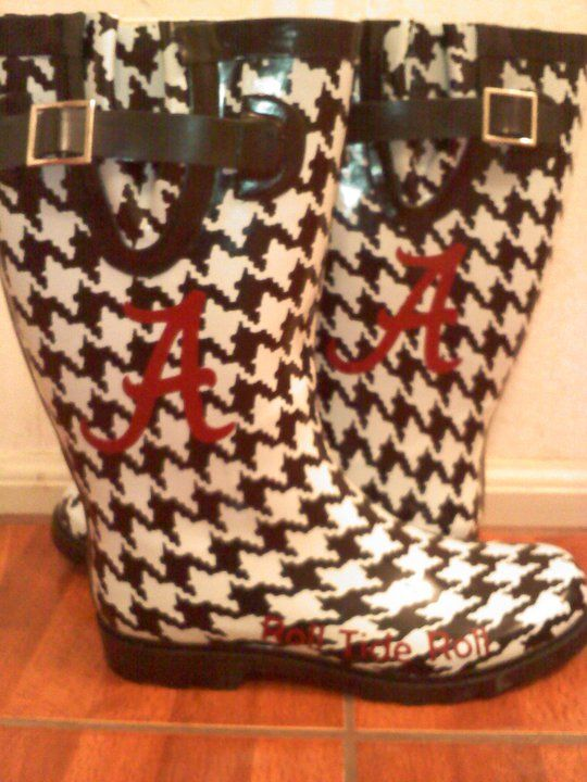 Awesome! I have the houndstooth boots - just need to add the Bama logo.