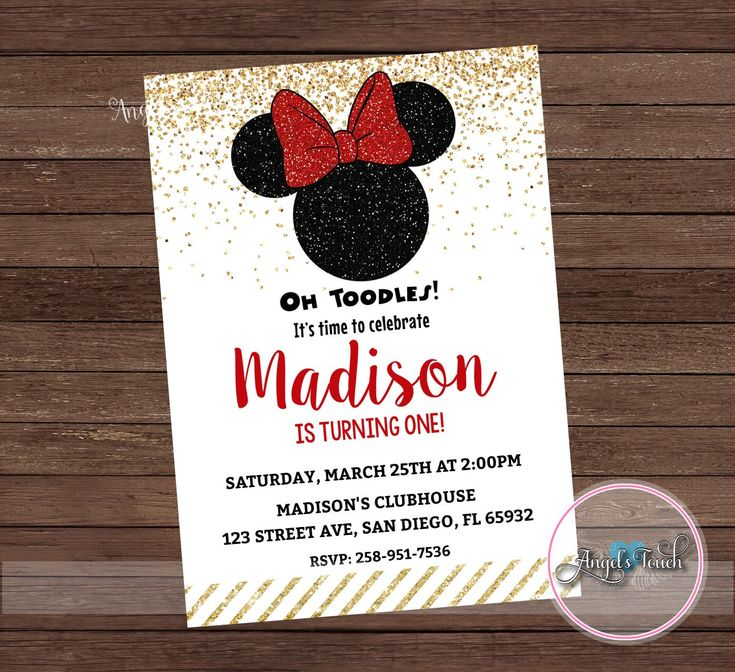 bday party invitation mail%0A Minnie Mouse Party Invitation  Minnie Mouse Red and Gold Invitation  Minnie  Mouse Chalk Invitation  Minnie Mouse Birthday Red  Digital File