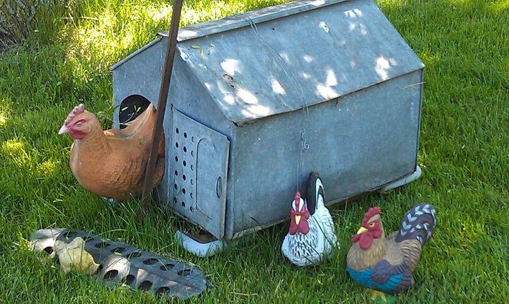 Antique Chicken Brooder ฟาร ม