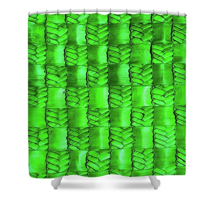 Weaving Shower Curtain featuring the photograph Weaving Flax - Royal Emerald by Wairua o te Moana