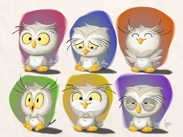 Baby owl stickers on Behance ★ Find more at http://www.pinterest.com/competing/