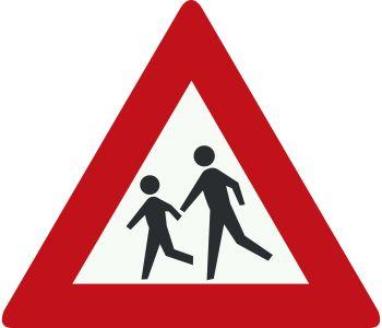 Naast onze buurt zit een basisschool waar kinderen veilig naar toe moeten kunnen komen. Daarom willen wij het volgende bord plaatsen om te zorgen dat het verkeer er van bewust is dat ze extra oplettend moet zijn. http://theorie.tv/verkeersborden/J21-Kinderen