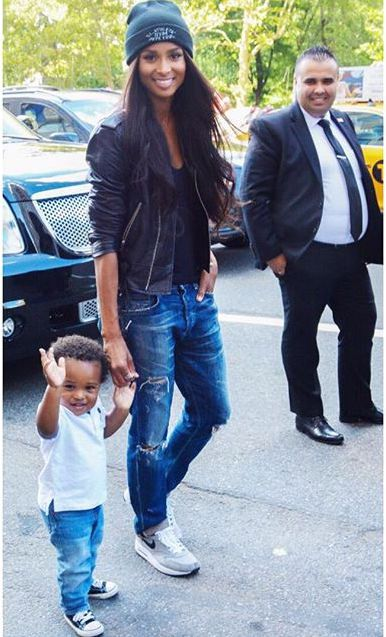 "Ciara & Son: ""My Little Prince IN NY"" - http://site.celebritybabyscoop.com/cbs/2015/08/16/ciara-little-prince #Ciara, #FutureWilburn, #NYC"