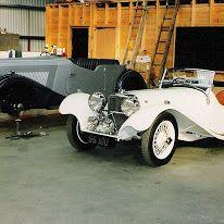 Replica 1937 SS100 Jaguar wich now resides in Japan