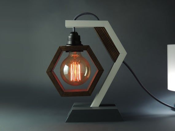 Desk Lamp Lp 19 A Table Lamp Wooden Lamp Edison Lamp Etsy Wooden Lamp Lamp Steampunk Table Lamp