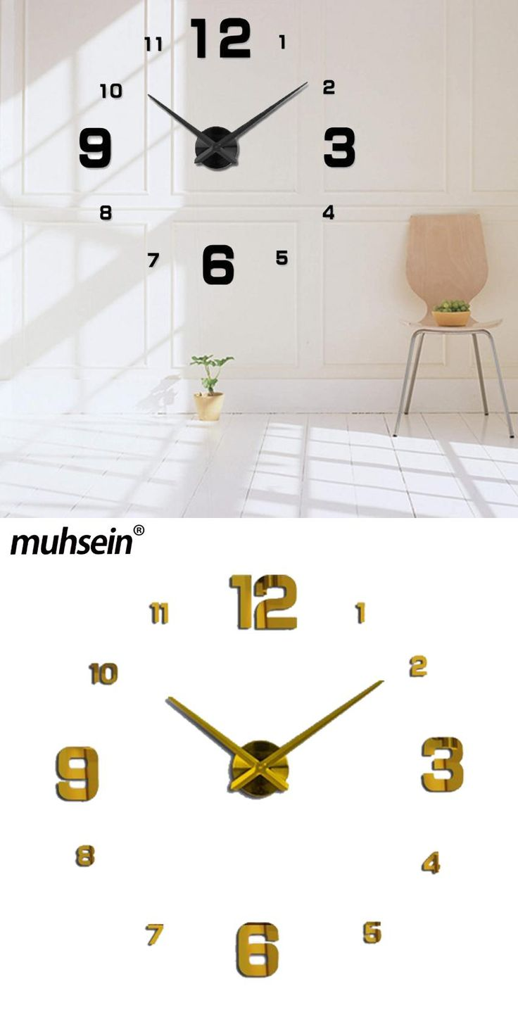 Best 25 mirror wall clock ideas on pinterest wall clocks muhsein 2017 new wall decoration mirror wall clock modem design large decorative clocks wall watch unique amipublicfo Image collections