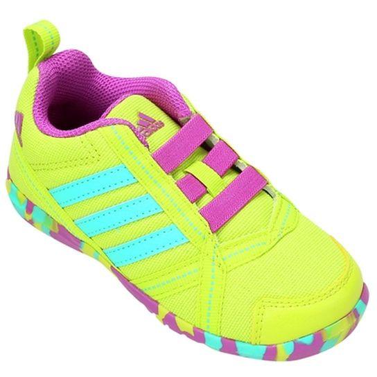Tênis Adidas Natweb Infantil - Verde Limão+Azul Turquesa