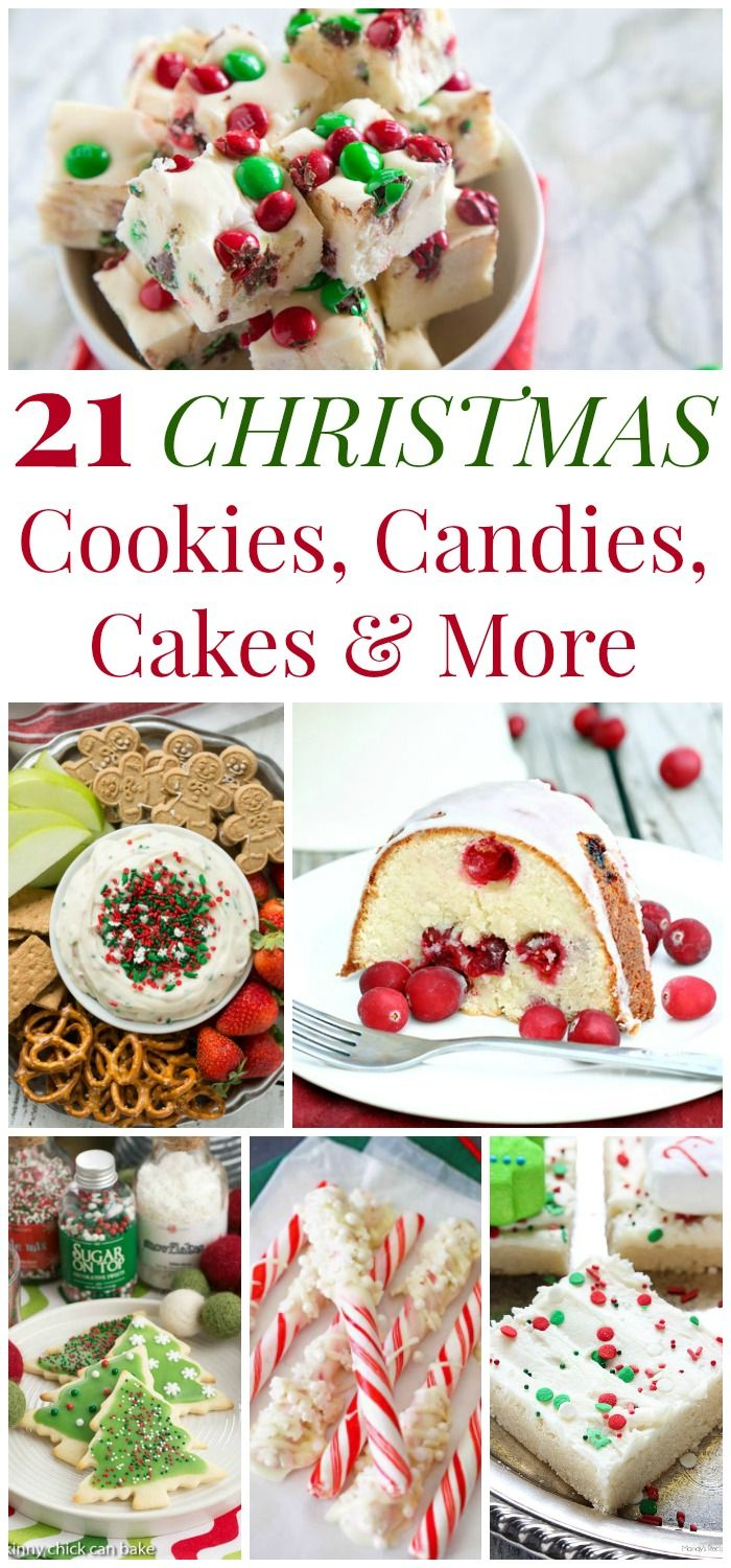 21 Christmas Cookies, Candies, Cakes and Other Treats and More Holiday Dessert Recipes