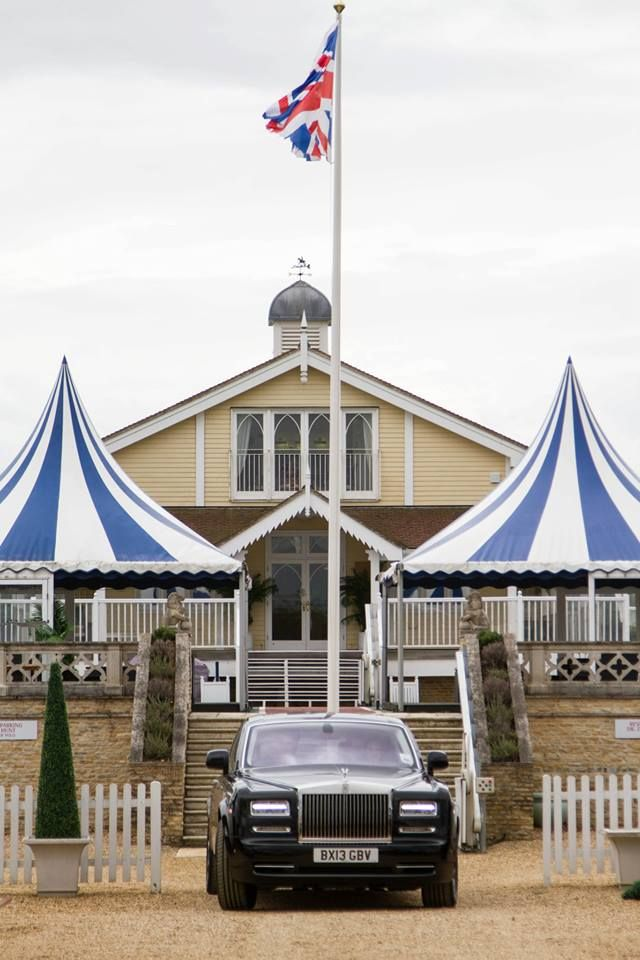 The Clubhouse entrance where the wedding breakfast and evening reception will be held.