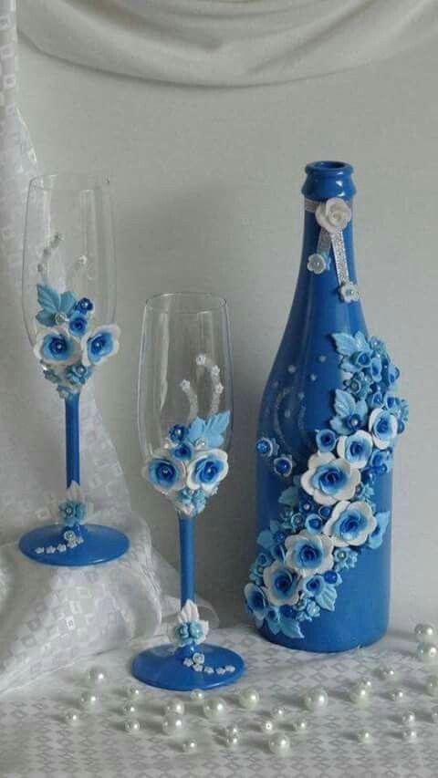 Oltre 25 fantastiche idee su bicchieri di vino decorati su pinterest bottiglie di vino - Bottiglie vetro ikea ...