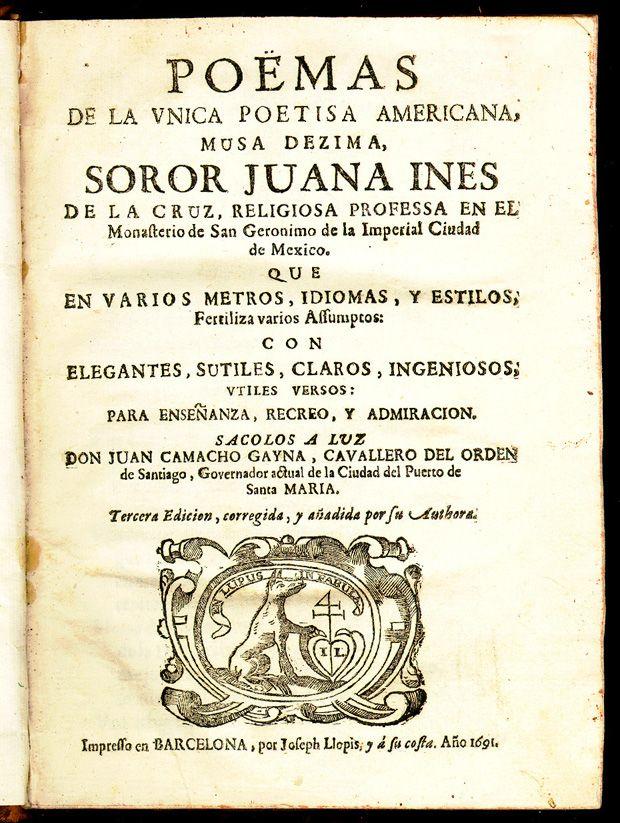One of Sor Juan's poetry books