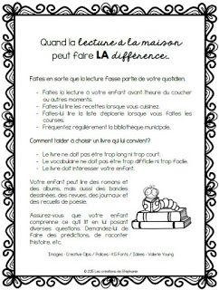 Les créations de Stéphanie: Quand la lecture à la maison peut faire LA différence...