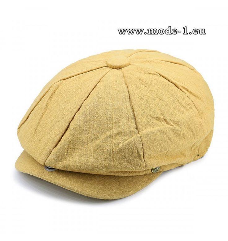 Herren Stetson Hut Schirmmütze in Ockergelb