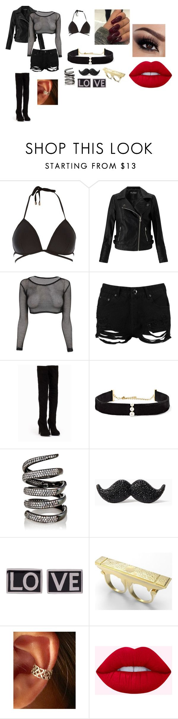 """""""Untitled #149"""" by celine-cheong on Polyvore featuring River Island, Miss Selfridge, Boohoo, Nly Shoes, Anissa Kermiche, Fallon, Kate Spade and Givenchy"""