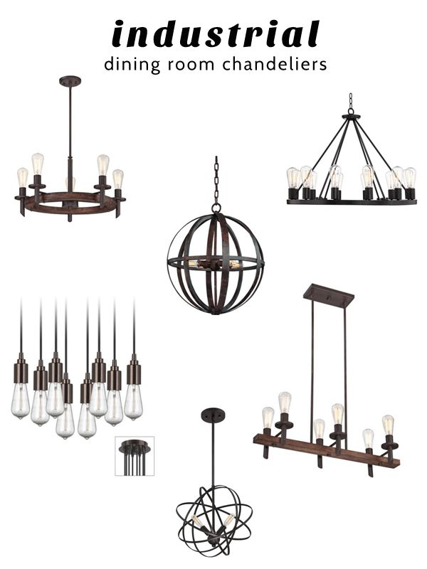 Industrial Dining Room Chandeliers from @lampsplus