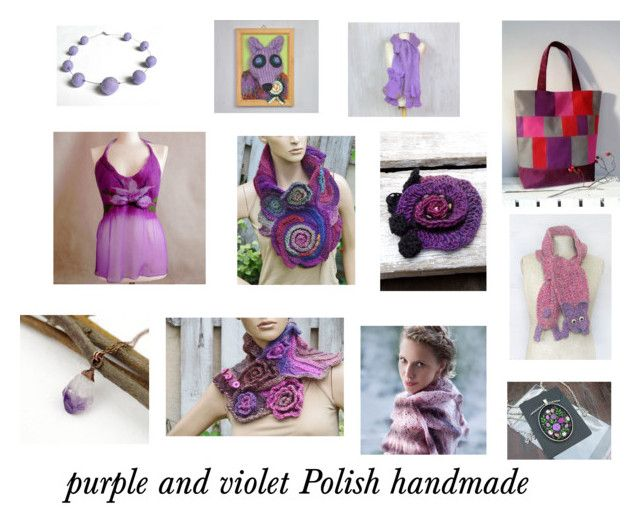 Purple and violet Polish handmade products by marudafelting on Polyvore featuring moda, purple, violet, handmade, poletsy and MarudaFelting