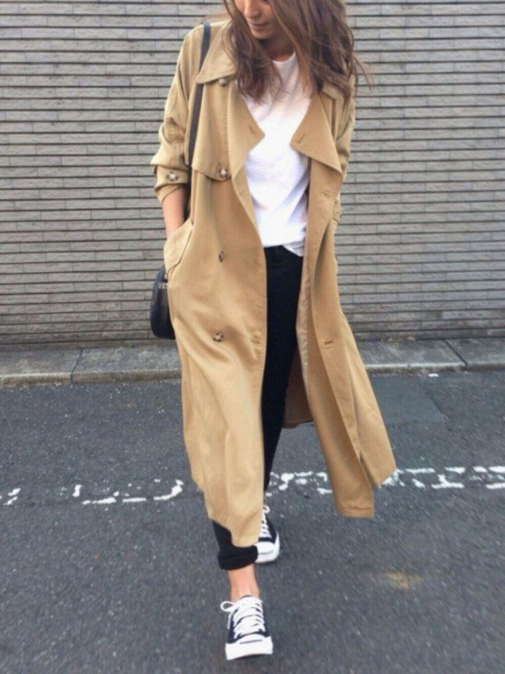 yukoさんのトレンチコート「Ungrid 【Lady like】テンセルロングトレンチコート」を使ったコーディネート