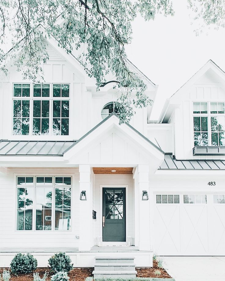 White And Green House House Exterior Dream House Exterior Dream House
