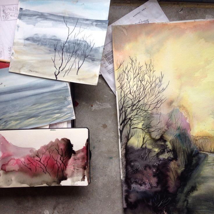 Moje obrazy i szkice  www.annachmiel.com